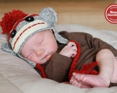 Classic Sock Monkey Hat - multiple sizes available