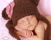 Newborn  Lady Bear Hat