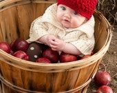 Crochet Apple Hat Photo Prop