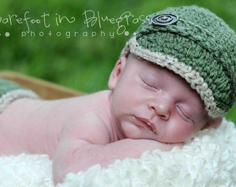 Newborn Brimmed Newsie Hat