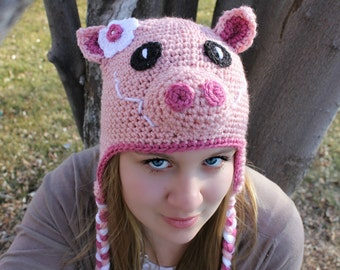 Pink Pig Hat For Toddlers to Adults,  Pig Hat with Snout, Adult Hats, Halloween Costumes for all ages, Charlotte's Web,