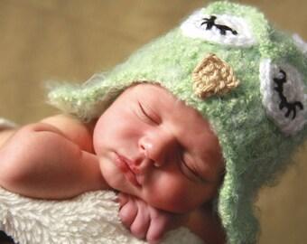 Newborn Fuzzy Owl Hat