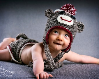 Sock Monkey Set for Toddlers