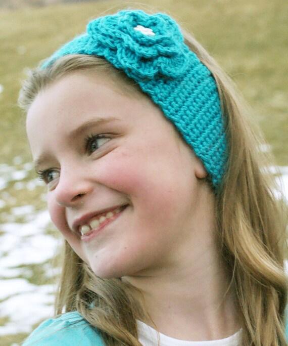 Crochet Flower Headband-The Leah