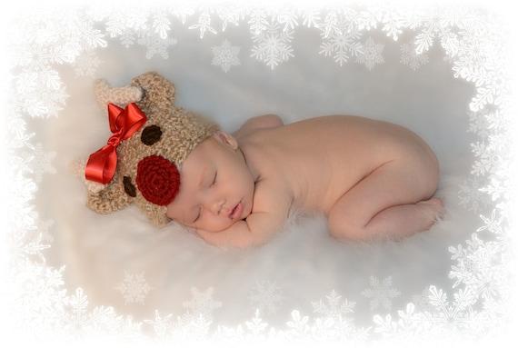 Newborn Reindeer Hat