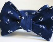Anchors Away Navy Mens Bow Tie
