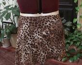 Ballet Wrap Skirt, Brown Leopard Chiffon