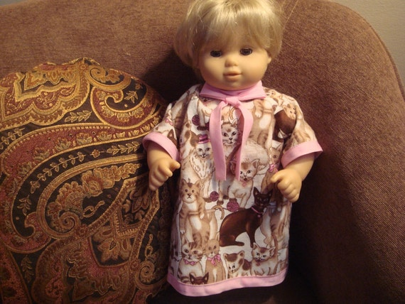 Cats Nightgown for Bitty Twin or Bitty Baby