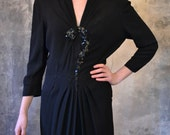1940's Mysterious Question Mark Dress