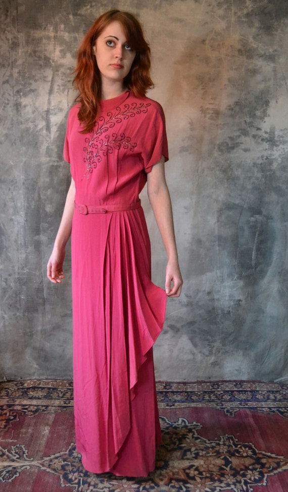 1940's La Vie en Rose Dress
