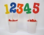 NEW .  12 Cupcake Toppers.  Sweet and Simple Birthday Decorations.