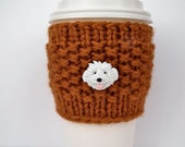 Coffee Cozy for the Dog Lover.  Choose your Dog Button.