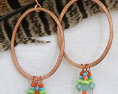 Aqua Tiers with Copper Earrings