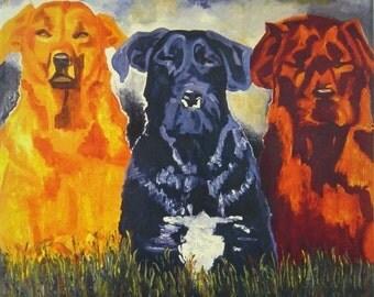 Three Amigos on Canvas