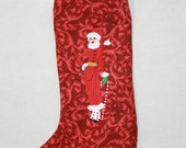 Mrs. Claus Holiday Stocking