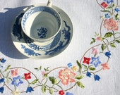 Square Irish Linen Tablecloth with embroidery
