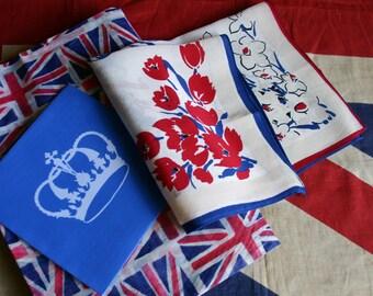 Royal Coronation Souvenir Silk Hanky -George V1 Coronation 1937