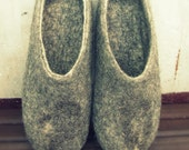 Felted slippers, ECO Primitive, any size, from Europe with love, eco friendly, organic natural wool, Minimalist style, unisex, best gift for mothers day, fathers day, dude, man