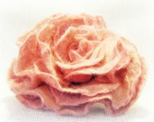 Special for Lyn.....Ponytail Felted soft pink rose, free gift wrap, from Europe with love, dreamt