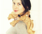 """SALE... Felted wool scarf """"Sand coast"""", ready to ship, OOAK, eco friendly, fashion, from Europe with love"""