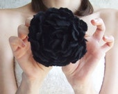 Black wool flower brooch free gift wrap from Europe with love Wedding  bridesmaid Valentines day gift idea