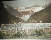 The Canadian Rockies... 18 hand colored Vandyck Photographs.. published.. by..Byron Harmon.. Banff, Canada