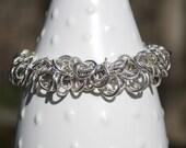 Classy Argentium Sterling Silver Bracelet, Tarnish resistant, Chainmaille, Link bracelet, Custom made