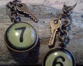 Industrial, Steampunk Earrings- Lucky Numbers