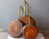 Copper Pan Collection--RESERVED for Lisa