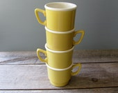 Stacking Yellow Mugs--RESERVED for Alex