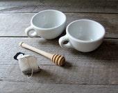 Vintage White Diner Cups Mugs Shenango