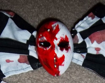 Bloody Face Checkerboard Bow OOAK