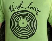 Vinyl Lovers light green T-shirt Medium - Large or Extra Large