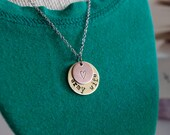 Personalized Hand Stamped Necklace - Army Wife/Military Support Necklace