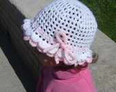 PDF Instant Download Easy Crochet Pattern No 019 Double Scalloped Hat All sizes Baby Toddler Child Adult