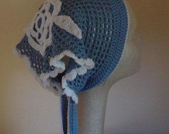PDF Instant Download Crochet PATTERN No 005 Blue Bandana adult child sizes