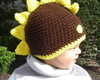 PDF Dinosaur  Beanie DOWNLOADABLE Crochet Pattern No037 baby toddler child adult