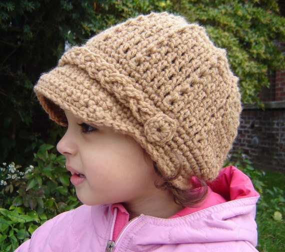 NEWSBOY CAP Crochet Pattern No056 All sizes baby by ...