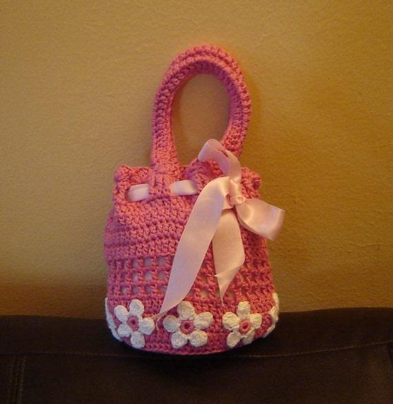 PDF Instant Download Crochet Pattern No 017 Pink Bag