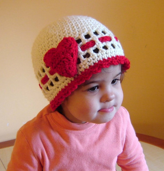 PDF Instant Download Crochet Pattern No 088 Red Rose or Heart Beanie All sizes Preemie Baby Toddler Child Teen Adult