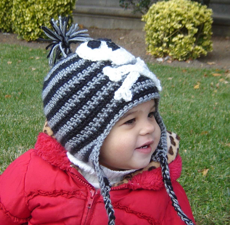 Pdf instant download crochet pattern no 067 pirate earflap hat zoom bankloansurffo Images