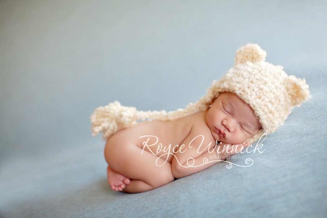Pdf Instant Download Easy Crochet Pattern No 218 Baby Bear Hat