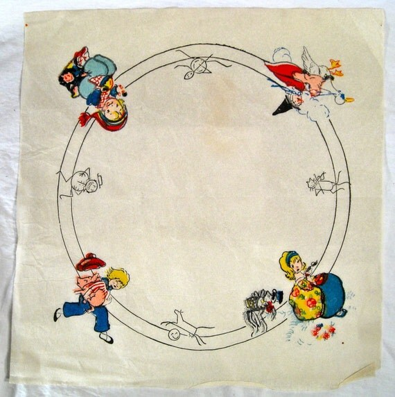 Mother goose nursery rhymes embroidery or design pattern