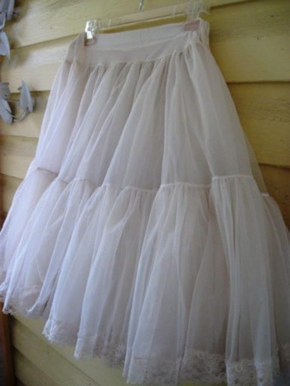 RESERVED FOR LINDA Vintage Full white Crinoline