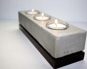 Triple Tea Light Concrete Candle Holder