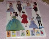Vogue vintage Fashion Barbie Doll Clothes Pattern 9686 Factory Fold