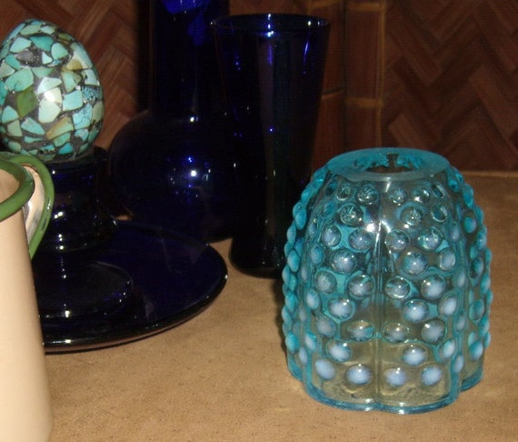 Fenton light Blue hobnob Fairy lamp REPLACEMENT Top