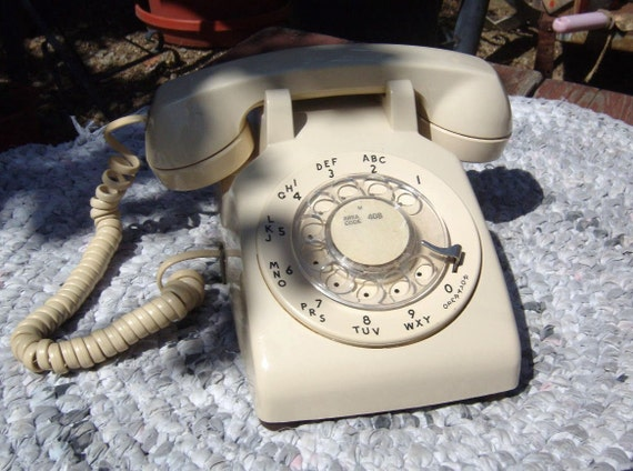 1960 Western Electric Bell System Rotary Desk Phone Telephone