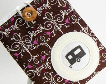 ON SALE! Passport Case / Pocket / Passport Cover / Brown Lovebirds Fabric