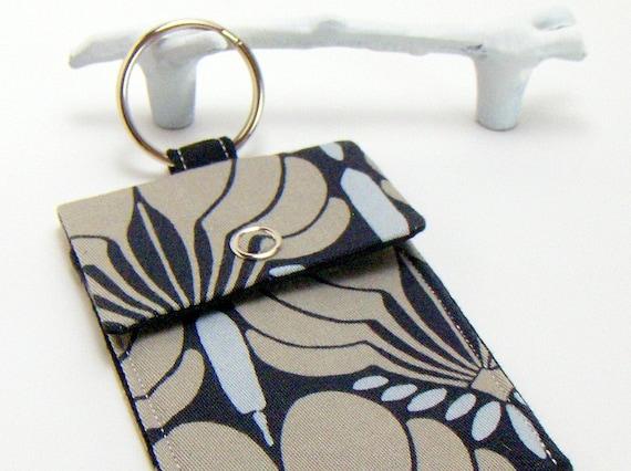 Business Card Holder / Keychain / Black Fans